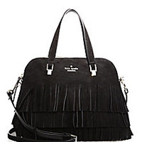 Kate Spade New York - Sycamore Run Maise Suede Fringe Satchel - Saks Fifth Avenue Mobile