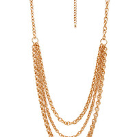 FOREVER 21 Must-Have Chain Necklace Gold One