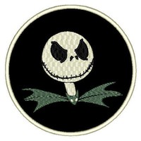 """Patch Craft - Jack the Pumpkin King (3.9"""" Round Iron-on patch)"""