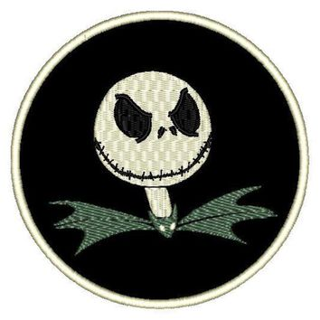 "Patch Craft - Jack the Pumpkin King (3.9"" Round Iron-on patch)"