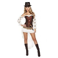 Sexy Steampunk Babe Flapper Costume Outfit