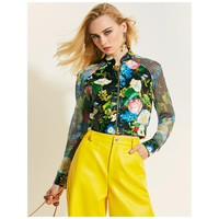 Floral Polyester Bomber Women or Jacket