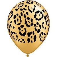 """Single Source Party Supplies - 11"""" Jungle Leopard Latex Balloons Bag of 10"""