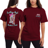Mississippi State Bulldogs Women's Bright Bow T-Shirt – Maroon