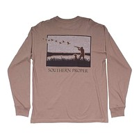 Hunt Club Long Sleeve Tee in Cashew by Southern Proper