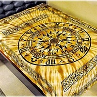 Cycle of Age - Brown Tie-Dye - Tapestry