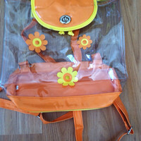 90's Clear Plastic Daisy Backpack