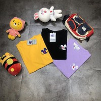 """""""Champion"""" Unisex Simple Casual Cute Mickey Logo Embroidery Short Sleeve Couple T-shirt Top Tee"""