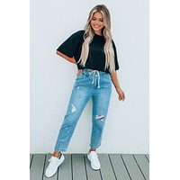 Letters To You Cropped Tee: Black