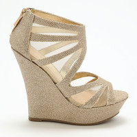 Gold Cut Out Wedges