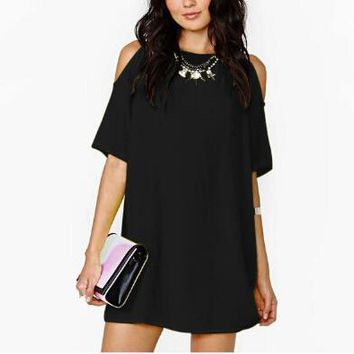 Casual Plus Size Chiffion Dress Women Summer Dress Mini Woman Dress Vestido De Festa Summer Style Vestidos Femininos 2015