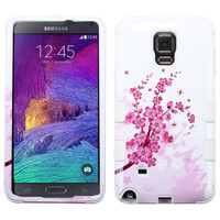MYBAT TUFF Hybrid Galaxy Note 4 Case - Spring Flowers/White