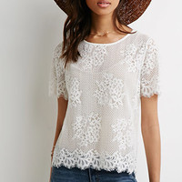 Lacy Open-Knit Top