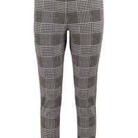 Una Dogtooth Check Skinny Stretch Trousers | Boohoo