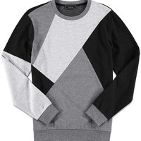 Heathered Pieced Colorblock Sweatshirt | 21 MEN - 2000133433