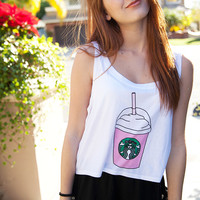 Strawberry Frap Love Crop Top