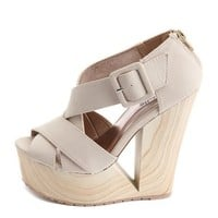 X-Front Cutout Wedge Sandal: Charlotte Russe