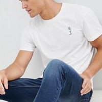 Jack & Jones Originals T-Shirt With Cactus Embroidery at asos.com
