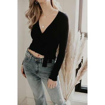 Sleek Looks Crop Top - Black