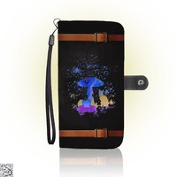 Cat And Mushroom, Cat Wallet Case