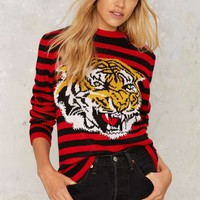 Pack a Growl Striped Sweater