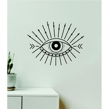 Eye Design Decal Sticker Wall Vinyl Art Wall Bedroom Room Home Decor Teen Inspirational Girls Yoga Zen Meditate Namaste Tattoo Boho All Seeing