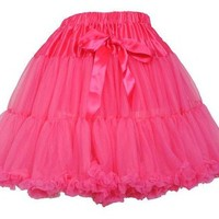 """Vintage 50s Style Fluffy Petticoat Pink 17"""" 