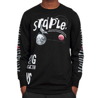 Staple High Flyer L/S T-shirt in Black