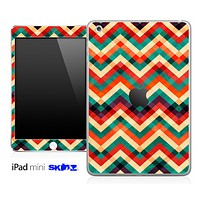 Color Vintage Chevron Pattern Skin for the iPad Mini or Other iPad Versions