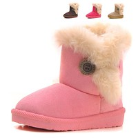 Baby Children's Shoes Boots Winter Plush Warm Snow Boots Baby Girls Boys 4colors Snow Boots Shoes