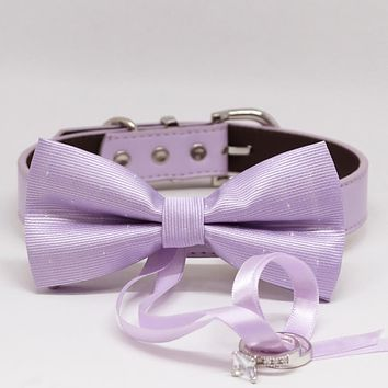 Lilac Dog Bow Tie ring bearer, Pet Wedding accessory, Marry Me, Proposal idea, Chic , Wedding dog collar