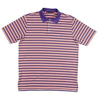 Bermuda Performance Golf Polo in Purple and Orange Stripes by Southern Marsh