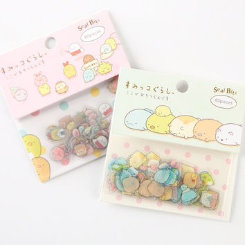 80 pcs pack Cute Sumikko Gurashi Sealing Stickers Diary Label Stickers Pack Decorative Scrapbooking DIY Stickers
