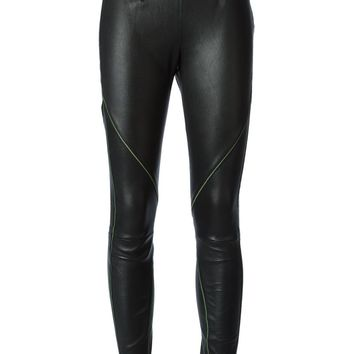 T By Alexander Wang contrast stitch skinny trousers