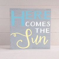 Painted Wood Sign - Home Decor - Lyrics sign - Song Lyric Sign- The Beatles - Music Decor