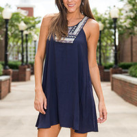 Whatever Comes My Way Dress, Navy