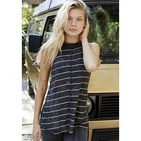 Free People - Stripe Fade with the Wave Top Black