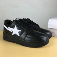 Foot Soldier BAPE STA Black/White Star Sneaker Shoe 36-45