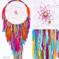 The Harvest Moon Large Native Style Woven Dreamcatcher