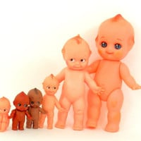 Kewpie Doll Collection Lot 6 Cameo Rosie O'Neill and Japan Vinyl Cupie Dolls