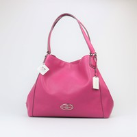 Coach Edie Fuchsia Shoulder Bag