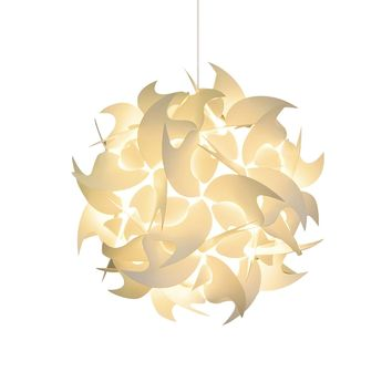 Medium Hooks Pendant Light Fixture - Warm white glow