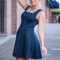 You May Have This Dance Dress, Navy