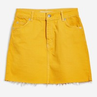 Mustard Denim Skirt | Topshop