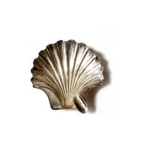 """Vintage Silver Sterling Ash Trays """"SHELL"""" ."""