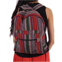 Classic square rucksack, bag,  Large front pocket adjustable straps Hippie Gypsy Tribe UNISEX tribal Backpack