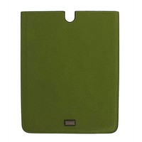 Dolce & Gabbana Green Leather P2 Tablet eBook Cover Bag