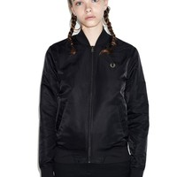 Fred Perry - Short Unlined Bomber Jacket Black