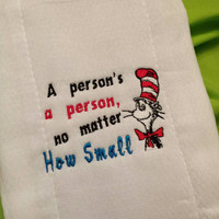 BURP CLOTHS Dr. Seuss Cat in the Hat Your CHOICE of 3 DeSiGnS PERSONALiZATION AVaiL  UNiSEX BaBY Nursery Shower GiFT Designs by Sugarbear