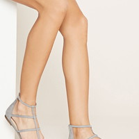Caged Faux Suede Flats